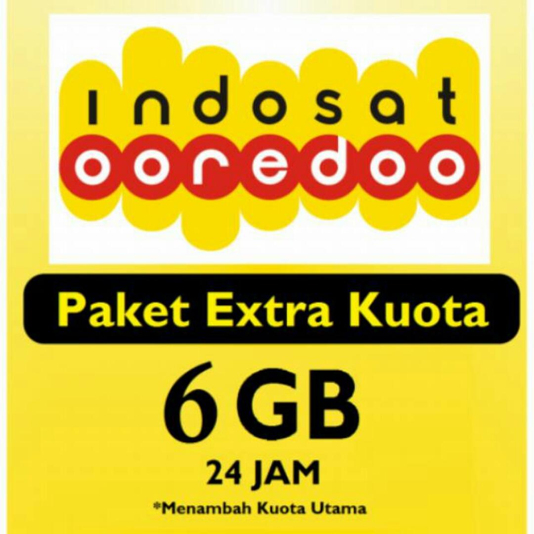 Paket Internet INDOSAT EXTRA KUOTA - ISAT EXTRA KUOTA 6GB (Harus ada paket internet yang masih aktif)